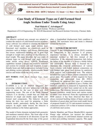 Case Study of Element Types on Cold Formed Steel Angle Sections ...