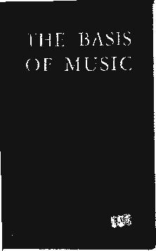 Cover of: The basis of music