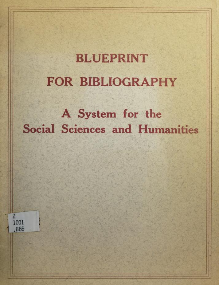 Blueprint for bibliography by Eric H. Boehm