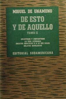 Cover of: De esto y de aquello | Miguel de Unamuno