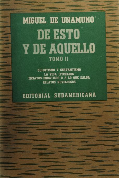 De esto y de aquello by Miguel de Unamuno