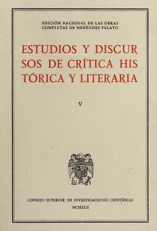 Cover of: Estudios y discursos de crítica histórica y literaria | Marcelino Menéndez y Pelayo