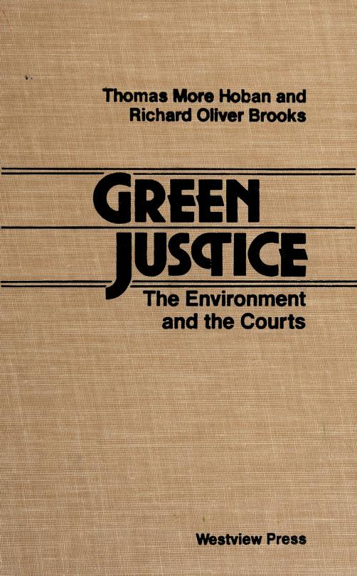 Green justice by Thomas More Hoban