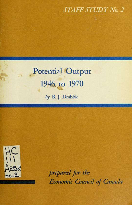 Potential output, 1946-1970 by B. J. Drabble