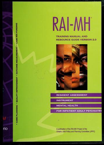 Cover of: RAI-MH | John Hirdes ... [et al.].