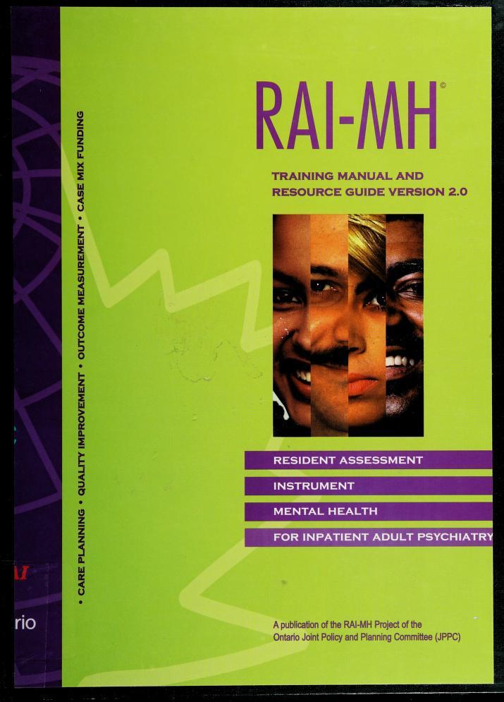 RAI-MH by John Hirdes ... [et al.].