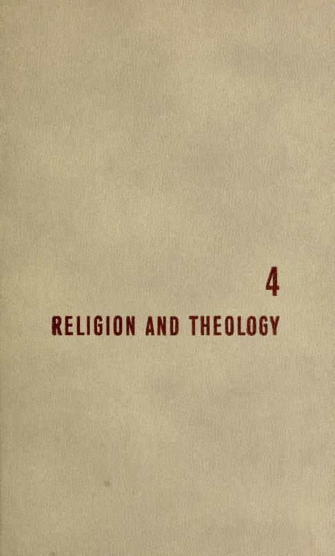 Religion and theology by Mortimer J. Adler