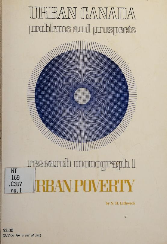 Urban poverty by N. H. Lithwick